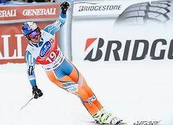 20.12.2013, Saslong, Groeden, ITA, FIS Ski Weltcup, Groeden, Herren, SuperG, im Bild Aksel Lund Svindal (NOR, 1. Platz) // 1st place Aksel Lund Svindal of Norway reacts at the finish area during mens Super-G of the Groeden FIS Ski Alpine World Cup at the Saslong Course in Gardena, Italy on 2012/12/20. EXPA Pictures © 2013, PhotoCredit: EXPA/ Johann Groder