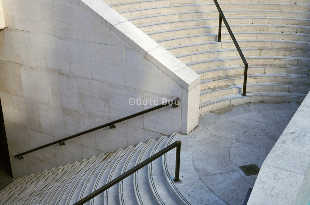 detail of rounded staircase