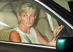 The Princess of Wales leaves South York, near Windsor after attending a birthday party for Princess Beatrice the eldest daughter of the Duke and Duchess of York.