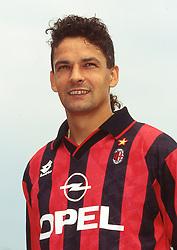 February 14, 2017 - foto IPPalberto sabattini.milanello 1995.campionato milan calcio serie a 1995-1996.nella foto roberto baggio (Credit Image: © Italy Photo Press via ZUMA Press)
