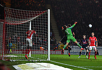 Football - 2018 / 2019 EFL Sky Bet League One - Play-Off Semi-Final, Second Leg: Charlton Athletic (2) vs. Doncaster Rovers (1)<br /> <br /> Charlton Athletic's Dillon Phillips battles with Doncaster Rovers' Andy Butler, at The Valley.<br /> <br /> COLORSPORT/ASHLEY WESTERN