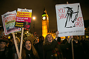 Anti Trump rally in Parliament Square, February 20th 2017, London, United Kingdom.
