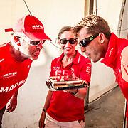 © María Muiña I MAPFRE: Celebrando el cumpleaños de Neal McDonald y Blair Tuke. Happy Birthday to Neal McDonald and Blair Tuke.