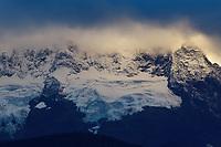 Meili Snow Mountain/Kawagebo/Kawagarbo, 6740 m, a Sacred mountain for Tibetan Buddhists, yet unclimbed, Yunnan, China
