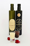 Bottles and glasses with Israeli made chocolate liquor