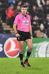 Referee Marius Mitrea<br /> <br /> Photographer Craig Thomas/Replay Images<br /> <br /> EPCR Champions Cup Round 4 - Ospreys v Northampton Saints - Sunday 17th December 2017 - Parc y Scarlets - Llanelli<br /> <br /> World Copyright © 2017 Replay Images. All rights reserved. info@replayimages.co.uk - www.replayimages.co.uk