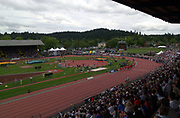General overall view of Hayward Field on the campus of the University of Oregon, Saturday, May 24, 2003, in Eugene, Ore.