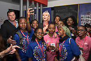 21st International AIDS Conference (AIDS 2016), Durban, South Africa.<br /> Photo shows Deborah Birx, The U.S. President's Emergency Plan for AIDS Relief (PEPFAR), United States, and actress<br /> Charlize Theron, from the Charlize Theron Africa Outreach Project, United States, in the Global Village. <br /> Photo©International AIDS Society/Steve Forrest/Workers' Photos