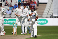 Northants Steelbacks Ricardo Vasconcelos out  during the Specsavers County Champ Div 2 match between Lancashire County Cricket Club and Northamptonshire County Cricket Club at the Emirates, Old Trafford, Manchester, United Kingdom on 14 May 2019.