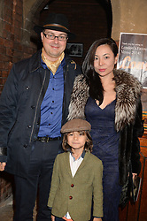 LORD & LADY OXMANTOWN and their son the HON.WILLIAM PARSONS at a performance of Karen Ruimy's show ZIK'R held at the Union Chapel, Islington, London on 21st November 2014.