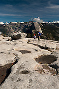 Hikers/visitors, female, girl, woman, Yosemite National Park, California, Sierra Nevada Mountains, October, 2010; MR available