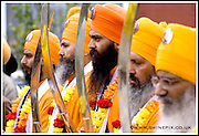 Sikh's from accross the area join the annual  Vaisakhi parade which ends at Handsworth Park.  Vaisakhi is an ancient harvest festival in Punjab, which also marks beginning of a new solar year, and new harvest season. .Credit Shaun Fellows/ Shine Pix Ltd