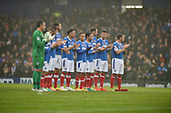 Portsmouth players minutes applause before kick off during the EFL Sky Bet League 2 match between Portsmouth and Mansfield Town at Fratton Park, Portsmouth, England on 12 November 2016. Photo by Adam Rivers.
