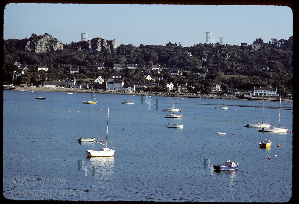 Harbor at town of Paimpol, north Brittany.  France
