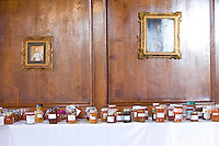 jars of marmalade on display at a country show