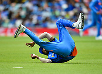Cricket - 2019 ICC Cricket World Cup - Group Stage: India vs. Australia<br /> <br /> India's Hardik Pandya prevents a boundary, at The Kia Oval.<br /> <br /> COLORSPORT/ASHLEY WESTERN