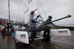 The RYA Youth National Championships 2018. Day 3<br /> <br /> De-rigging Nacra 15 - Values<br /> <br /> Images: Marc Turner / RYA<br /> <br /> For further information contact:<br /> <br /> Richard Aspland, <br /> RYA Racing Communications Officer (on site)<br /> E: richard.aspland@rya.org.uk<br /> m: 07469 854599