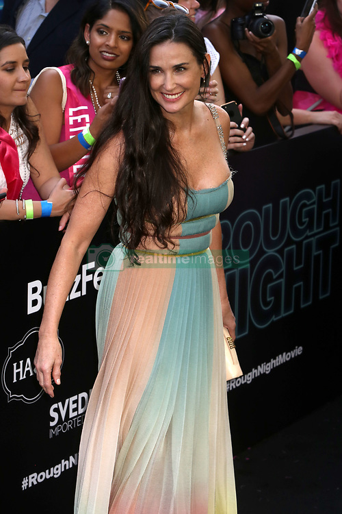 """Demi Moore attends the premiere of """"Rough Night"""" at AMC Lincoln Square in New York"""