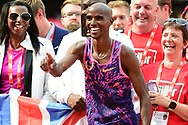 Mo farah has a laugh after winning the 3000m Men during the Muller Anniversary Games at the London Stadium, London, England on 9 July 2017. Photo by Jon Bromley.