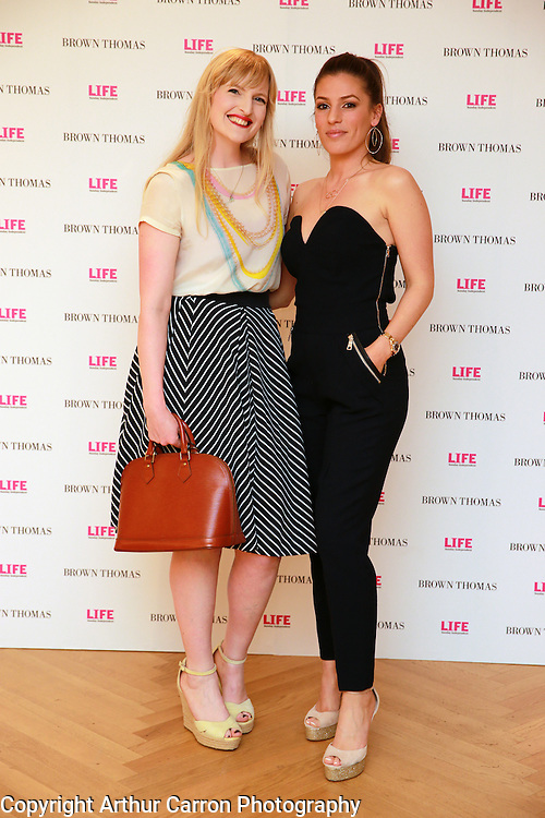 14/5/14 Sophie White and Nicky Cummins at the 10th Anniversary celebrations of Life Magazine at Brown Thomas in Dublin. Picture:Arthur Carron