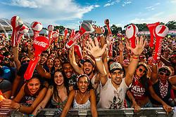 Público durante a 22ª edição do Planeta Atlântida. O maior festival de música do Sul do Brasil ocorre nos dias 3 e 4 de fevereiro, na SABA, na praia de Atlântida, no Litoral Norte gaúcho.  Foto: Emmanuel Denaui / Agência Preview