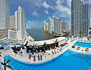 View from a room at the Epic Hotel in Miami, Florida, 2010