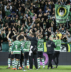 April 30, 2018 - Na - Portimão, 04/28/2017 - Portimonense received this evening the Sporting CP in game to count for the 32nd day of the 1st Liga 2017/2018, in the Municipal Stadium of Portimão. Players and fans  (Credit Image: © Atlantico Press via ZUMA Wire)