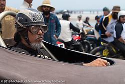 Sushi Atsushi Yasui of Japan in his hotrod at TROG (The Race Of Gentlemen). Wildwood, NJ. USA. Saturday June 9, 2018. Photography ©2018 Michael Lichter.