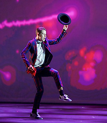 BBC Young Dancer 2015 <br /> at Sadler's Wells, London, Great Britain <br /> 8th May 2015 <br /> <br /> Grand Final <br /> TX Saturday 7pm on 9th May 2015 <br /> <br /> <br /> Harry Barnes - Hip Hop <br /> <br /> Photograph by Elliott Franks <br /> Image licensed to Elliott Franks Photography Services
