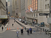 New York stock exchange and Wall street