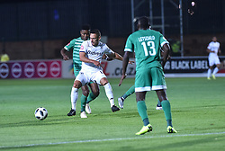 SOUTH AFRICA: GAUTENG: Bidvest Wits player Cole Alexander clash with Bloemfontein Celtic player Menzi Masuku during the Absa Premiership at Bidvest Stadium Gauteng.<br />Picture: Itumeleng English/African News Agency (ANA)
