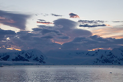Dusk, Lemaire Channel, Antarctica