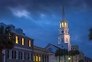 Charleston, South Carolina, Broad Street, Saint Michael's Episcopa Church, Oldest In Charleston, National Historic Landmark, Colonial America