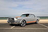 1965 Ford Mustang Coupe - Lightning Strike Silver.Aspendale Beach, Melbourne, Victoria.9th of April 2011.(C) Joel Strickland Photographics.Use information: This image is intended for Editorial use only (e.g. news or commentary, print or electronic). Any commercial or promotional use requires additional clearance.