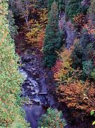 Autumn colors along the Caribou River, Caribou Falls Wayside, Minnesota.