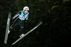 Sara Takanashi of Japan soaring through the air during 1st Round at Day 1 of World Cup Ski Jumping Ladies Ljubno 2019, on February 8, 2019 in Ljubno ob Savinji, Slovenia. Photo by Matic Ritonja / Sportida