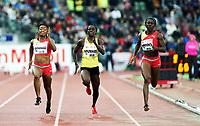 Friidrett , 13. juni 2013 , Diamond League , Bislett Games<br /> Athletics<br /> <br /> Ezinne Okparaebo , NOR<br /> Myriam Soumare ,FRA<br /> Sheri-Ann Brooks , JAM<br /> 100 m