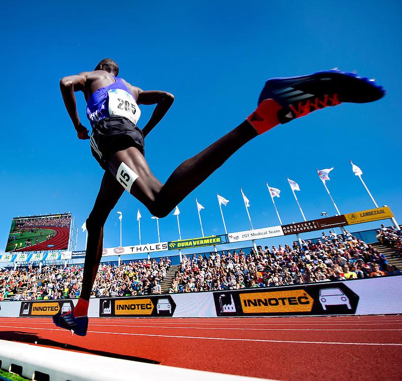 The Netherlands, Hengelo, 24-05-2015.<br /> Athletics, International.<br /> FBK Games, 1500 meter, men.<br /> Nixon Kiplimo Chepseba ( KEN ).<br /> Photo : Klaas Jan van der Weij