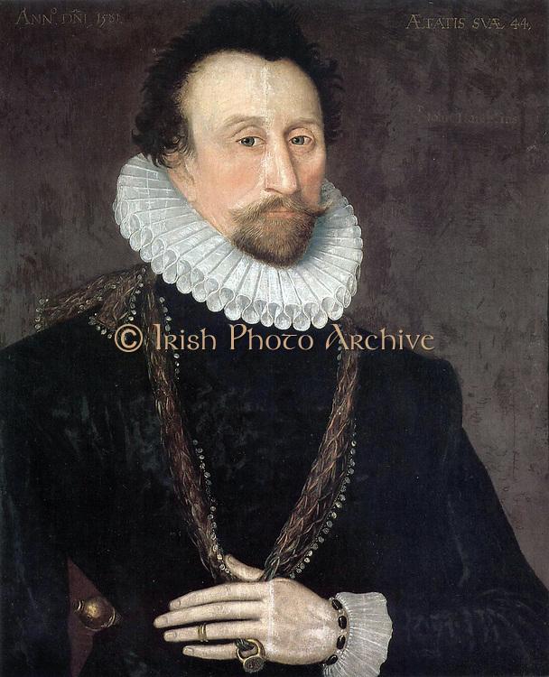 Sir John Hawkins (1532-1595)Admiral Sir John Hawkins (also spelled as John Hawkyns) (Plymouth 1532 – 12 November, 1595) was an English shipbuilder, naval administrator and commander, merchant, navigator, and slave trader.
