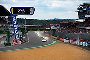 June 10-16, 2019: 24 hours of Le Mans. Start of the 24h of Le Mans 2019, led by 95 ASTON MARTIN RACING, ASTON MARTIN VANTAGE AMR,  Nicki THIIM, Marco SØRENSEN, Darren TURNER