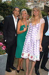 IAIN RUSSELL,  MISS OLIVIA BUCKINGHAM and ALEX FINLAY at the Tatler Summer Party in association with Moschino at Home House, 20 Portman Square, London W1 on 29th June 2005.<br /><br />NON EXCLUSIVE - WORLD RIGHTS