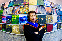 Graduation photo taken at Bangkok University in Thailand.