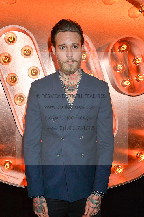 BILLY HUXLEY at the Warner Music Group & Ciroc Vodka Brit Awards After Party held at The Freemason's Hall, 60 Great Queen St, London on 24th February 2016.