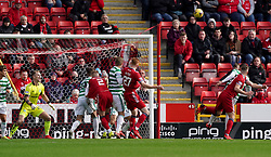 Aberdeen's Lewis Ferguson (right) scores their side's first goal of the game during the cinch Premiership match at Pittodrie Stadium, Aberdeen. Picture date: Sunday October 3, 2021.