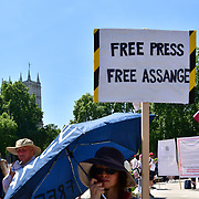 A few hundreds Protest for freedom no mask against Boris extent lockdown, anti-vaccination outside Downstreet and Parliament square, on 14th June 2-21, London, UK.