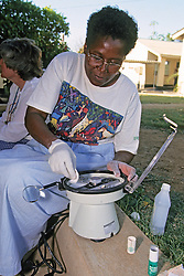 Prisca Nemapare With Portable Centrifuge