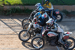 Start of the Hooligans Spirit of Sturgis races at the fairgrounds during the Sturgis Black Hills Motorcycle Rally. Sturgis, SD, USA. Monday, August 5, 2019. Photography ©2019 Michael Lichter.