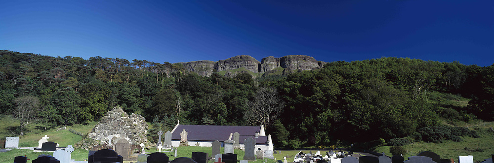 July 21, 2019 - Binevenagh Cliffs In The Distance; Limavady, County Derry, Ireland (Credit Image: © The Irish Image Collection/Design Pics via ZUMA Wire)