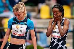 Diane van Es of Netherlands, SifanHassanof Netherlands in action on the 10000 meter during FBK Games 2021 on 06 june 2021 in Hengelo.