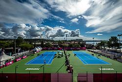 PORTOROZ, SLOVENIA - SEPTEMBER 17:  General view of C and D courts during the WTA 250 Zavarovalnica Sava Portoroz at SRC Marina, on September 17, 2021 in Portoroz / Portorose, Slovenia. Photo by Vid Ponikvar / Sportida